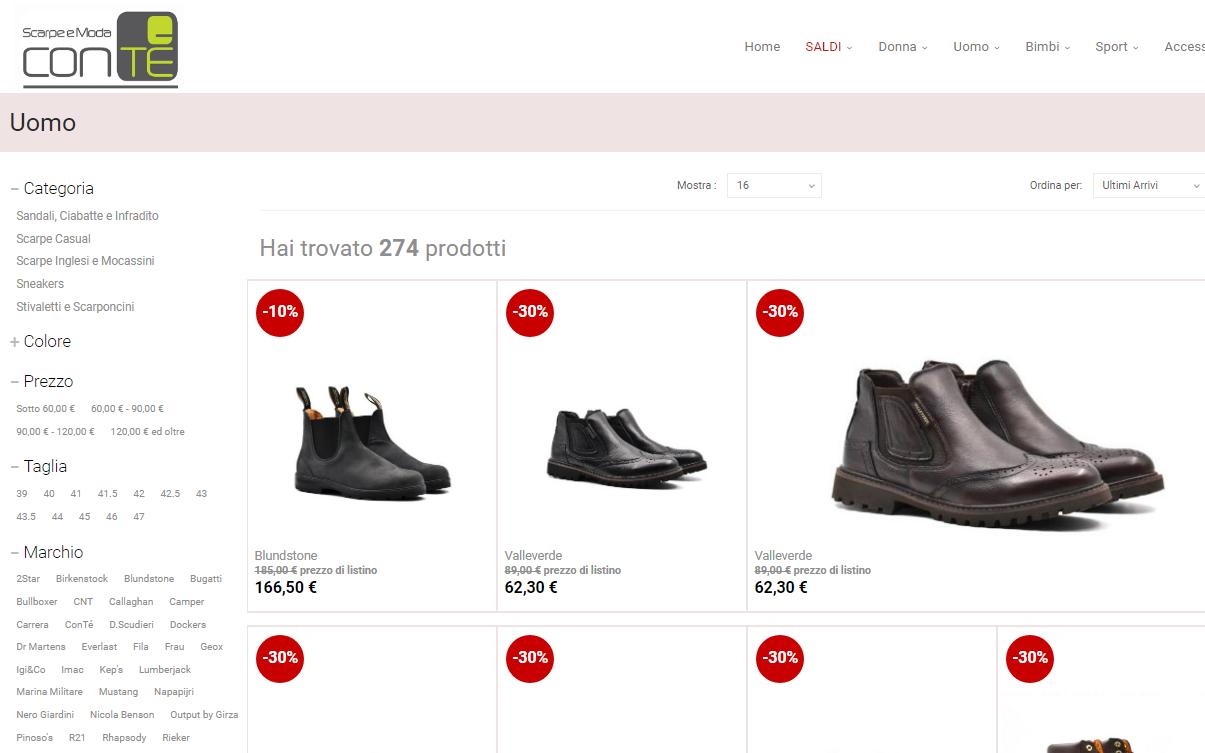 new style 06f99 ca329 E-commerce Biella Scarpe SpA | Festuccia.net